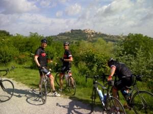 Daar zaten we gister, Montepulciano