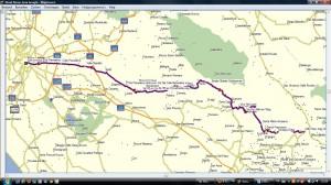 Routekaart donderdag 14 juni 2012 Rome - Sora