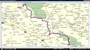 Routekaart vrijdag 15 juni 2012 Sora - Piedmonte