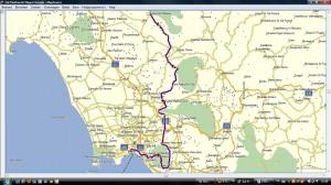 Routekaart zaterdag 16 juni 2012 Piedmonte - Napels