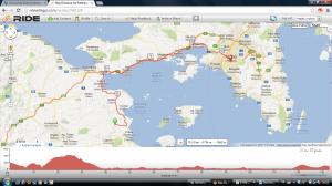 Etappe zaterdag 8 juni 2013 Epidaurus Athene