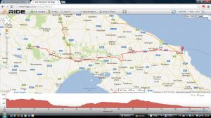 Etappe maandag 3 juni Matera - Brindisi